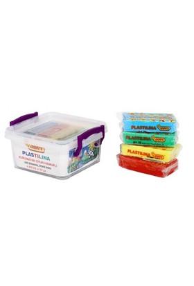 Jovi 4 Renk 50 Gramlık Plastilina Kurumayan Oyun Hamuru Kutuda