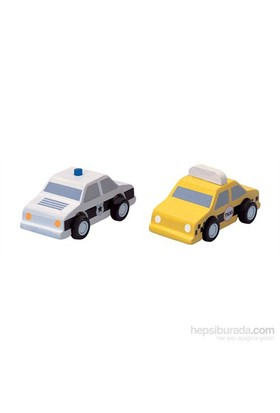 Plantoys Taksi & Polis Arabası (City Taxi & Polica Car)
