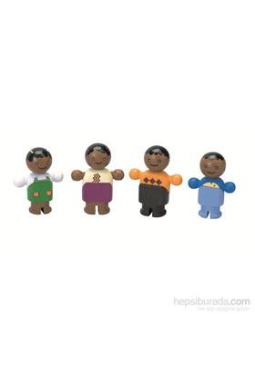 Plantoys Siyah Şehirli Aile (City Family)