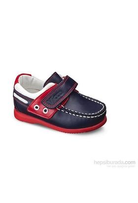 Vicco Cırtlı Bebe Deri Ayakkabı Lacivert A