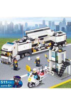 Kazi 511 Parça Lego Yapboz Polis Tırı Karargah