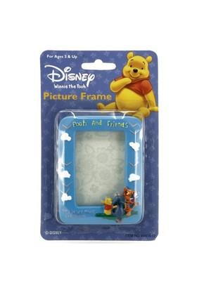 Winnie The Pooh & Pooh Figürlü Mavi Resim Çerçevesi