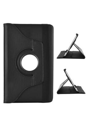 Gpack Samsung Galaxy Tab E T560 Kılıf Standlı Kapaklı - Siyah