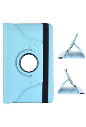 Gpack Samsung Galaxy Tab E T560 Kılıf Standlı Kapaklı - Turkuaz