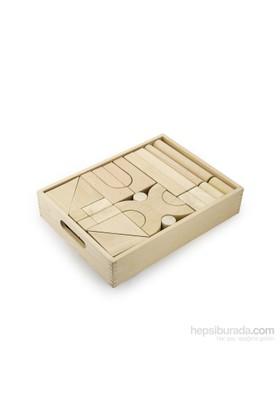 Vıga Toys Natural Ahşap Blok - 48 Parça