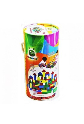 Karsan Ahşap 100 Parça Renkli Bloklar