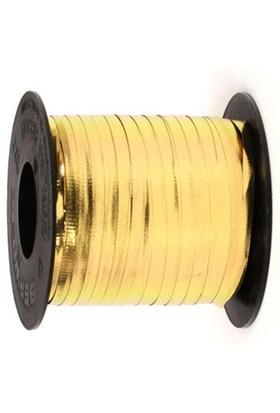 Pandoli Altın Renk 8 Mm Metalik Rafya 150 Metre