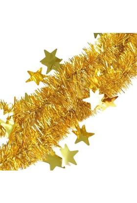 Pandoli Yıldızlı 6 Cm Sarı Renkli Sim Parti Süsü 2 Metre