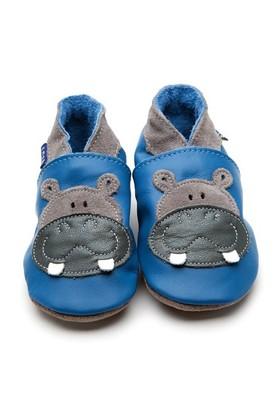 İnch Blue Hakiki Deriden Patik Hippo Blue
