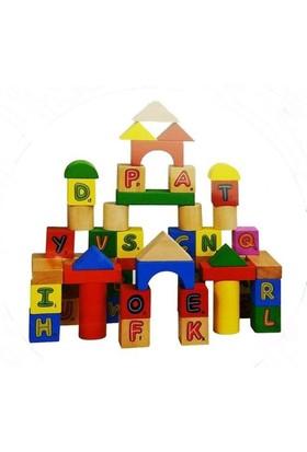 Bircan Oyuncak Ahşap 50 Parça Kutulu Bloklar