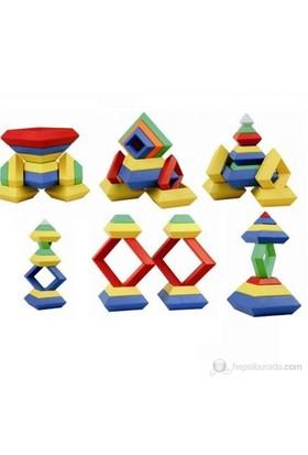 QL 30 Parça Geometrik Zeka Oyunu +Plastik Kutulu