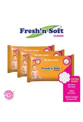 Fresh'n Soft Klasik Islak Mendil 3'Lu Fırsat Paketi / 192 Yaprak