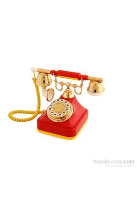 Anna Bell Sarı Kırmızı Klasik Tuşlu Telefon 2