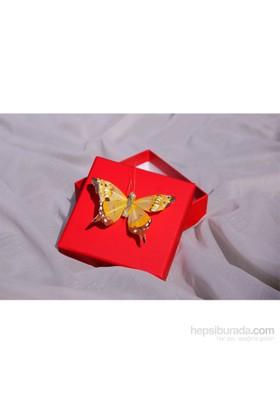 Mira Kelebek Detaylı Tasarım Kutu Kırmızı 10*10 Cm