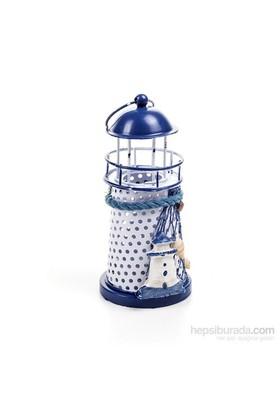 Metal Deniz Feneri Mavi Mumluk