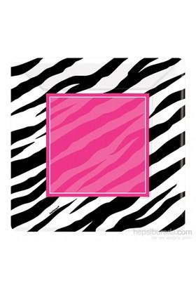 KullanAtMarket Siyah Zebra Partisi Tabak 26 Cm 8 Adet