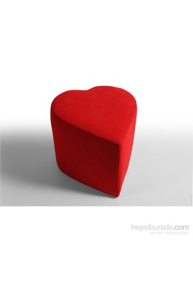 Sigma Tasarım Kalpli Puf Kırmızı