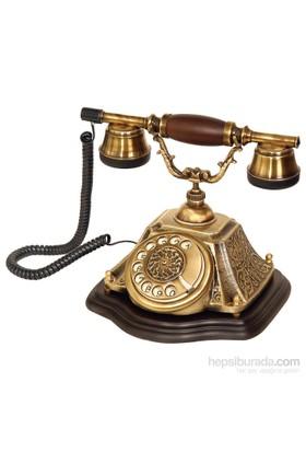 Piramit Pirinç Eskitme Klasik Telefon