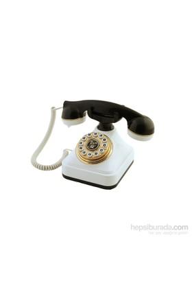 Anna Bell Siyah Beyaz Klasik Tuşlu Telefon