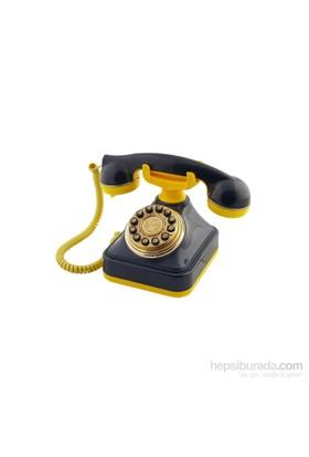 Anna Bell Sarı Lacivert Klasik Tuşlu Telefon 4