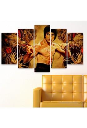 Dekoriza Bruce Lee 5 Parçalı Kanvas Tablo 110X60cm