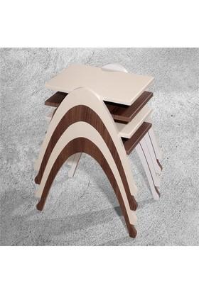 Veys Sehpa 4 Lü Coffe Table Zigon Sehpa