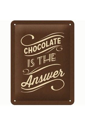 Nostalgic Art Chocolate İs The Answer Metal Kabart Malı Pin Up Duvar Panosu (15 X 20 Cm)