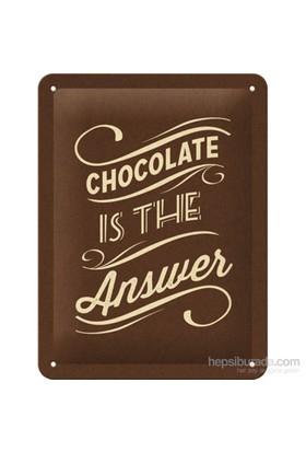 Chocolate İs The Answer Metal Kabartmalı Pin Up Duvar Panosu