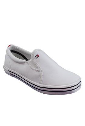 100 Tommy Hilfiger Slater 2D Fb56818996 Çocuk Ayakkabı Whıte