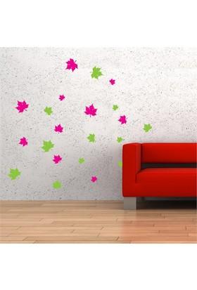 Modelce Dökülen Yapraklar Duvar Sticker ve 2 adet Priz Sticker