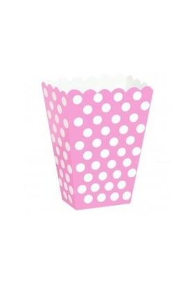 Parti Şöleni Pembe Puanlı Popcorn 8 Adet