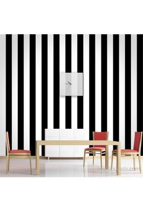 Siyah Beyaz Çizgili Duvar Kağıdı