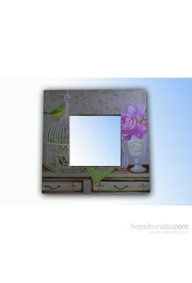 Kanvas Ayna Kuş ve Kafes