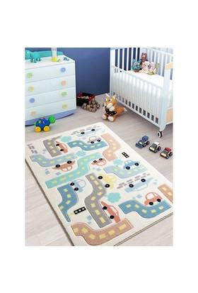 Confetti Baby Car Beyaz Oymalı Halı 100X150 Cm