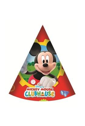 Parti Şöleni Mickey Mouse Şapka 6 Adet