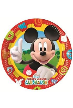 Parti Şöleni Mickey Mouse Tabak 8 Adet