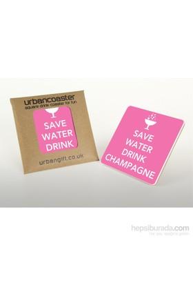 Urbangiftsave Water Drınk Champagne Coaster 10*10Cm