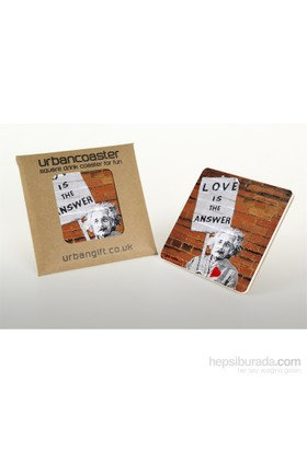 Urbangiftlove Is Answer Coaster 10*10Cm