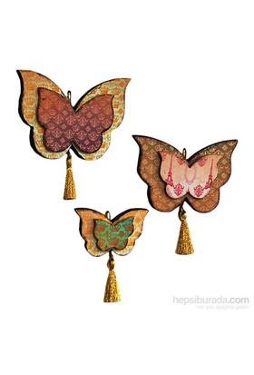 Orta Sofa Royal 3'lü Kelebek Seti