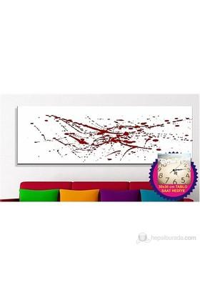 Renkli Boyalar Kanvas Tablo (Saat HEDİYE)