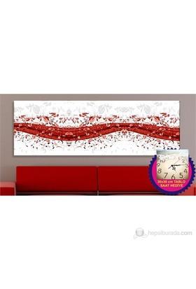 Kırmızı Kanvas Tablo (Saat HEDİYE)
