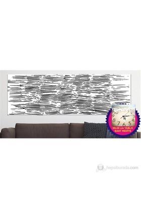 Siyah Kanvas Tablo (Saat HEDİYE)