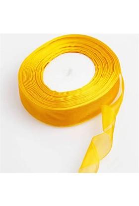 Pandoli Sarı Renk Düz Organze Kurdele 10 Metre
