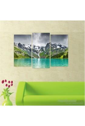 Dekoriza Dağ Manzarası 3 Parçalı Kanvas Tablo 80X50cm