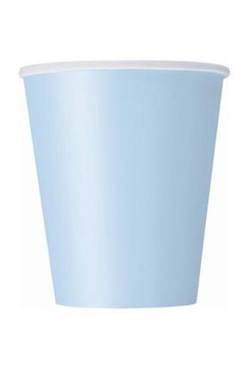 Açık Mavi Pastel Karton Bardak