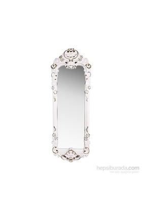 Evino Boy Aynası Beyaz Sarı