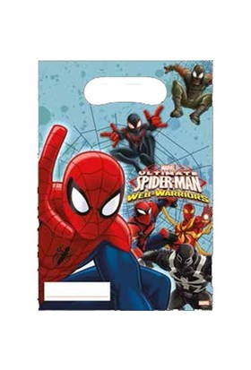 Pandoli Ultimate Spiderman Web Warriors Parti Çantası 6 Lı