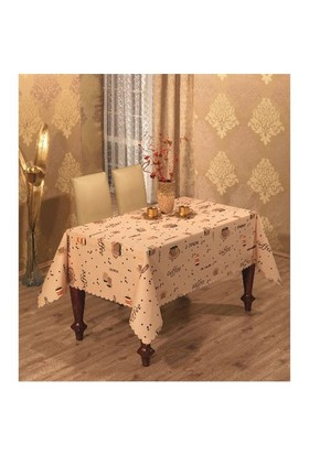 Zethome Jackline Dertsiz Masa Örtüsü Cafe 135X180