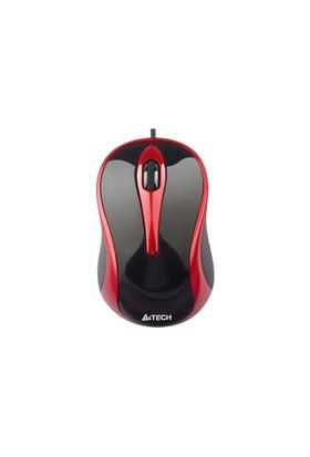 A4 Tech N-350-2 V-Track Usb Kırmızı Mouse
