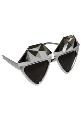 Pandoli Kristal Elmas Parti Gözlüğü - Gümüş